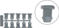 Tampão simples plug 6 mm para tampar furos em mangueira PE contém 10 peças