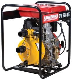 Motobomba Kawashima DW220HE, Diesel, Alta Pressão 100m, 2', 7hp, tq 12,5lts, Part.Eletrica