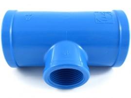 Tê soldável para irrigação 50 mm derivação rosca 1 pol