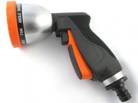 Pistola Esguicho Jardim Elgo em Aço com cabo Revestido de Borracha LP50 - 10 Padrões de Jatos