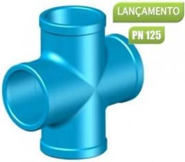 Cruzeta soldável para irrigação pvc 75 mm