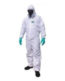 Macacão conjunto EPI proteção química com capuz