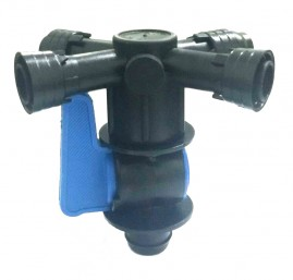 Registro inicial 20mm com 4 saídas para mangueira 16mm