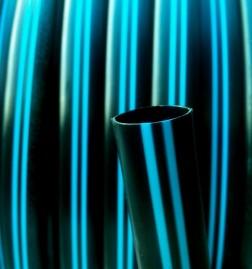 Tubo de Polietileno Virgem Faixa AZUL Diâmetro interno 20mm 3/4 pol PN30 RL de 100 m PELBD