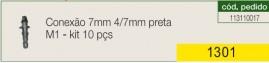 Conexão entreda 4 mm saída 4 ou 3 mm preta M1 kit com 10 peças