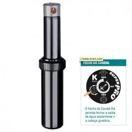 Aspersor escamoteável Rotor Super Pro com Shut-off raio de 2,4 a 14,6 m