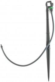 Microaspersor Rotativo bocal verde 162 L/h com estaca de 36 cm
