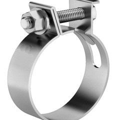 Abraçadeira tipo mangote aço carbono 2.1/2 polegadas 67-75mm