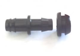 Conector inicial dentado com chula bilabial para mangueira de 13,9mm interno