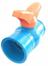 Registro esfera borboleta 50 mm de PVC saída soldável