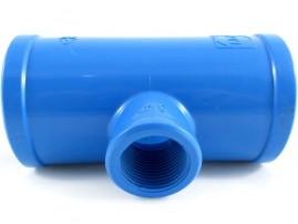 Tê soldável para irrigação 50 mm derivação rosca 3/4