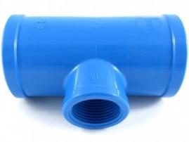 Tê soldável para irrigação pvc 75 x 1 polegada