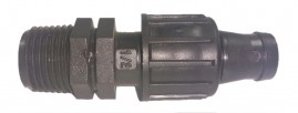 Conector inicial com rosca 1/2 para mangueira gotejadora P1