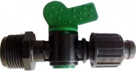 Conector registro inicial com rosca 3/4 para mangueira gotejadora P1