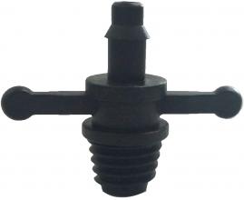 Conector roscado 8mm para microtudo 4mm tipo borboleta