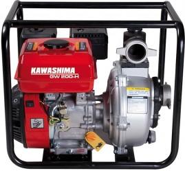 Motobomba Kawashima Gasolina GW 200-H Auto-Escorvante 7hp, 212cc 2'' Alta Pressão 50m, Sensor de Óleo